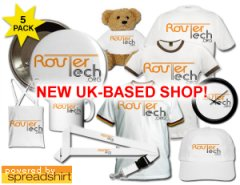 RouterTech Merchandise from our UK shop